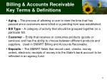 billing accounts receivable key terms definitions