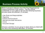 business process activity