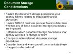 document storage considerations