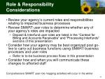 role responsibility considerations