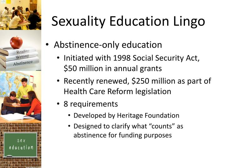 abstinence only sex education 8-point definition of abstinence-only education as defined by section 510(b) of title v of the social security act, pl 104-193 for the purposes of this section, the term abstinence education means an educational or motivational program which.