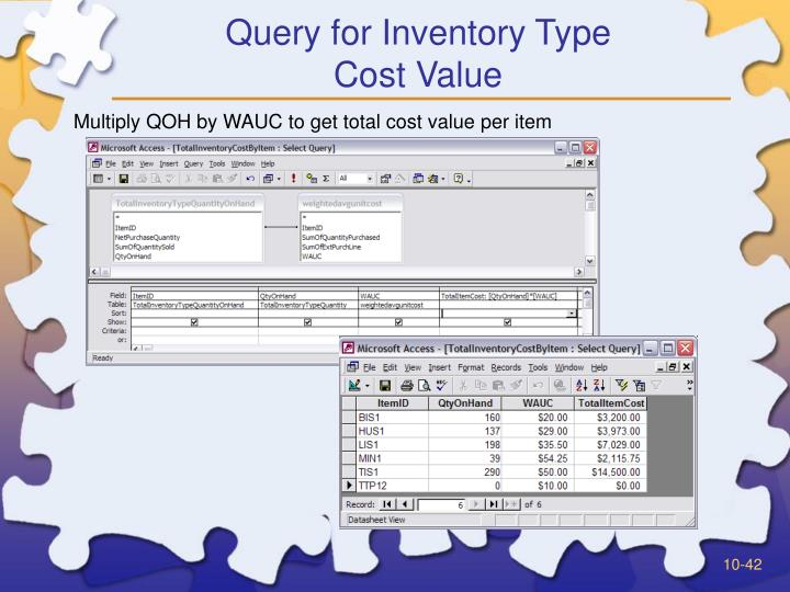 Query for Inventory Type