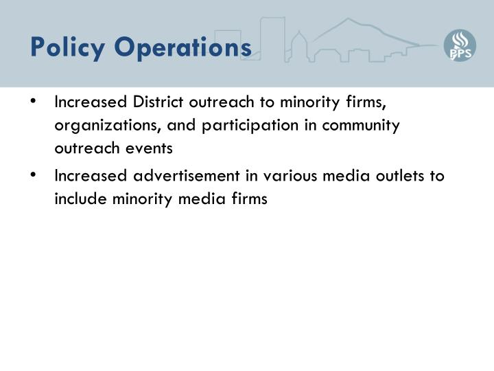 Policy Operations