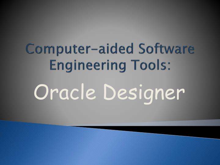 computer aided software engineering tools n.