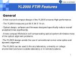 yl2000 ftir features