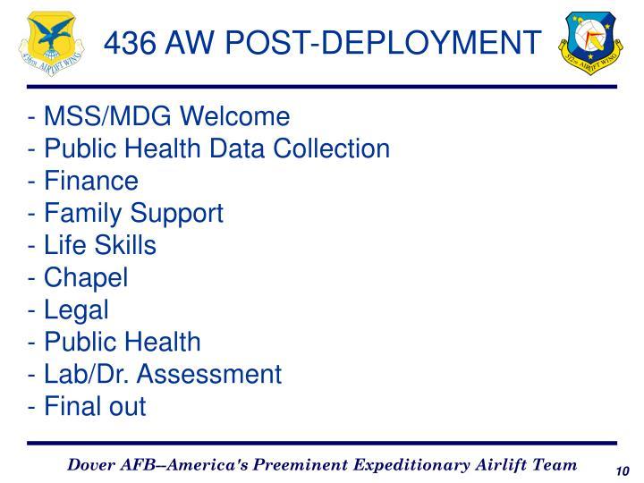 436 AW POST-DEPLOYMENT