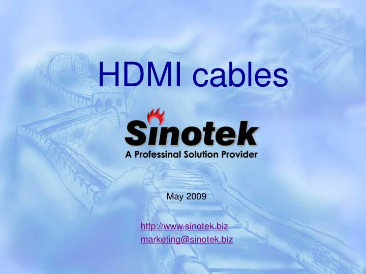 hdmi cables n.