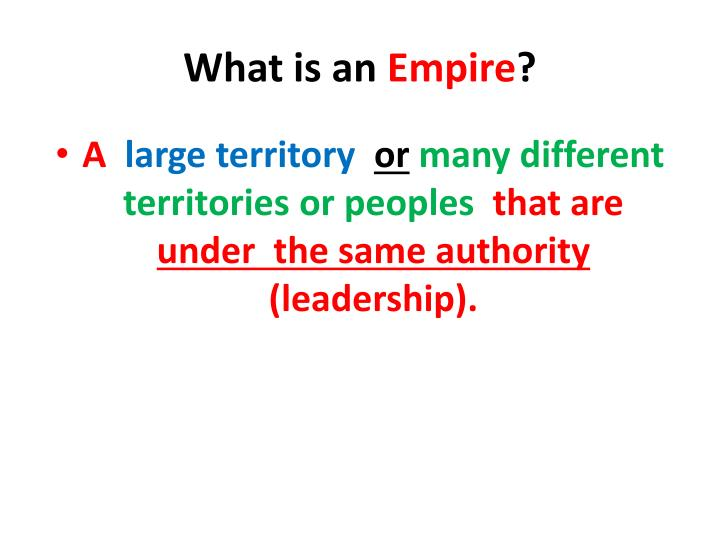 what is an empire