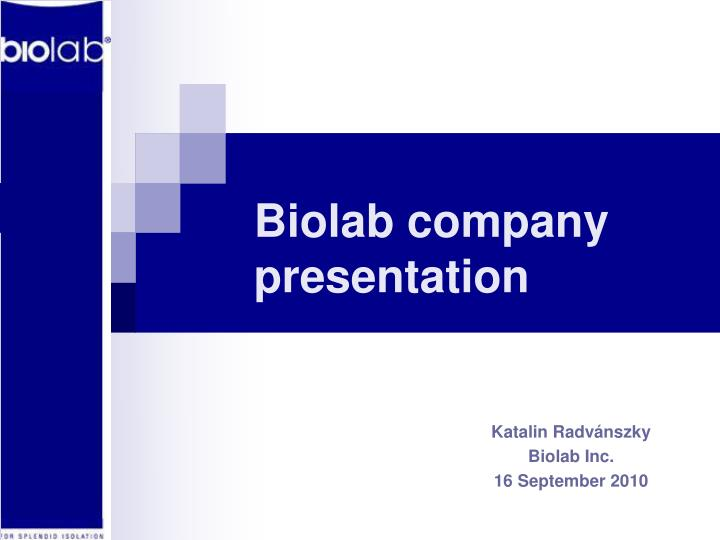 biolab pharmaceutical company Brazilian pharmaceutical firm biolab farmacêutica has opened a new research and development (r&d) centre in mississauga in the greater toronto area (gta) of ontario, canada developed as part of a global expansion plan, the project will strengthen the work of the company's são paulo facility, which is located in itapecerica da serra, brazil.