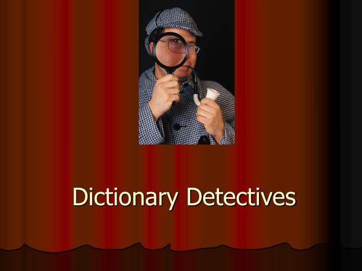 dictionary detectives n.