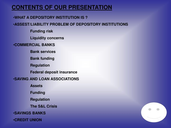 CONTENTS OF OUR PRESENTATION