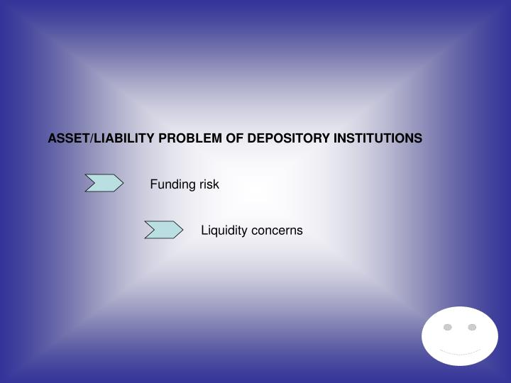 ASSET/LIABILITY PROBLEM OF DEPOSITORY INSTITUTIONS