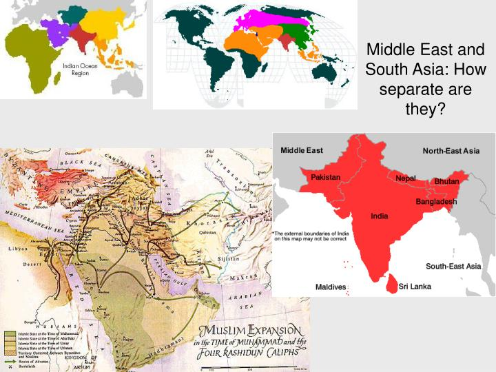 middle east and south asia how separate are they n.