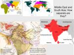 middle east and south asia how separate are they