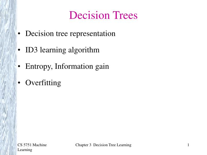 PPT - Decision Trees PowerPoint Presentation - ID:1716211