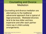counseling and divorce mediation