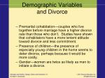 demographic variables and divorce1