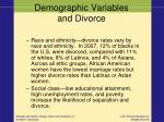demographic variables and divorce2