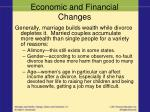 economic and financial changes