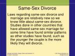 same sex divorce