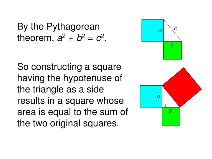 By the Pythagorean theorem,