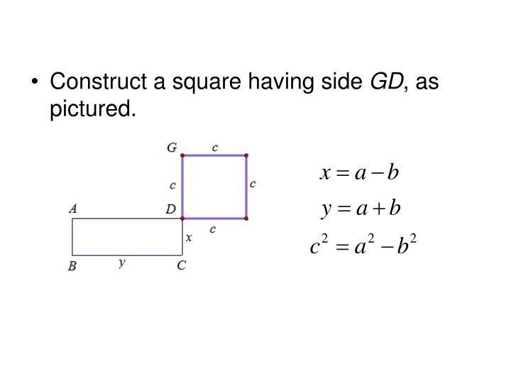 Construct a square having side