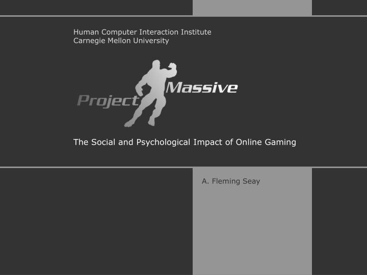 the social and psychological impact of online gaming n.