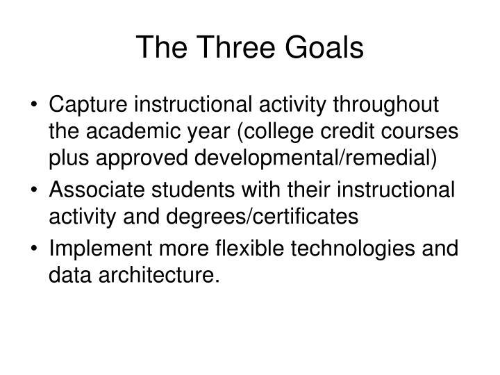 The three goals