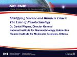 identifying science and business issues the case of nanotechnology