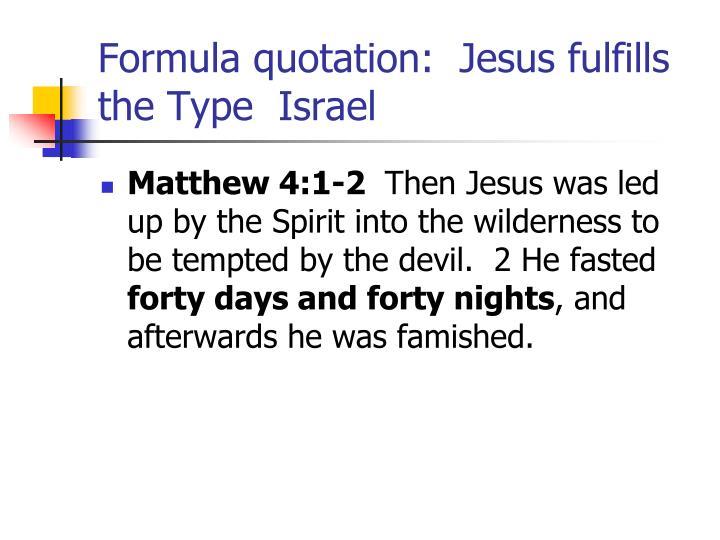 Formula quotation: