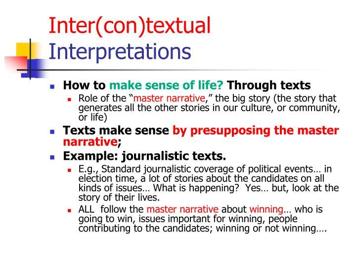 Inter(con)textual