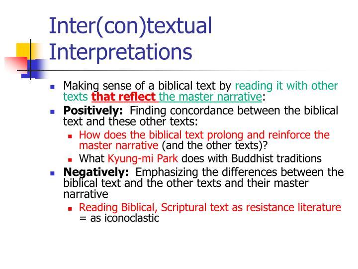 Inter(con)textual Interpretations