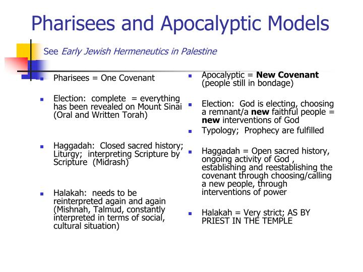 Pharisees = One