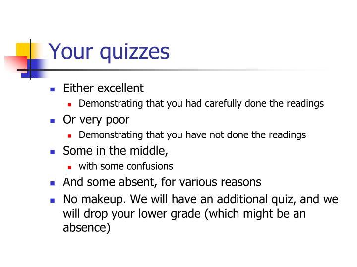 Your quizzes