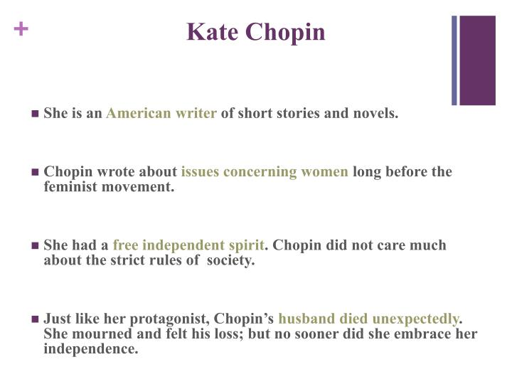 an analysis of the struggle for identity in the story of an hour by kate chopin Kate chopin was born catherine o'flaherty in st louis on february 8, 1850 her mother, eliza faris, came from an old french family that lived outside of st louis her father, thomas, was a highly successful irish-born businessman he died when kate was five years old.