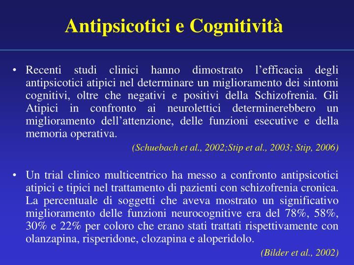 Antipsicotici e Cognitività