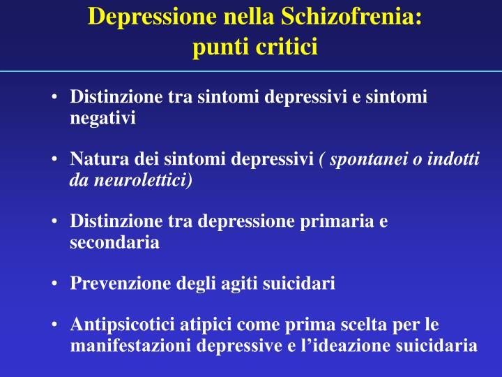 Depressione nella Schizofrenia: