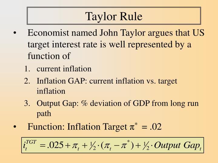 Taylor rule