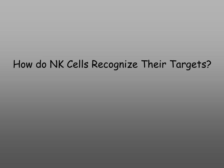 How do NK Cells Recognize Their Targets?