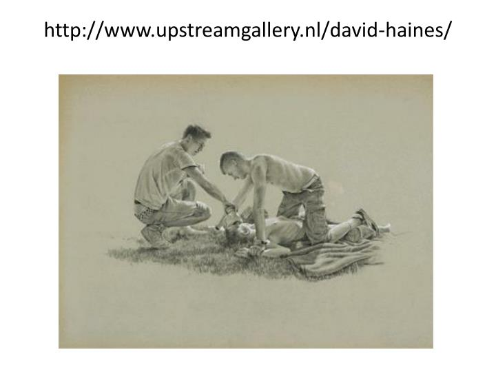 http://www.upstreamgallery.nl/david-haines/