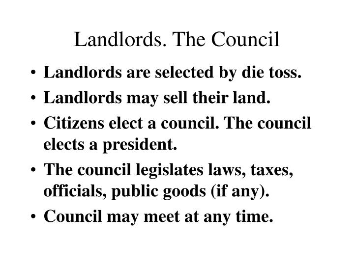 Landlords. The Council