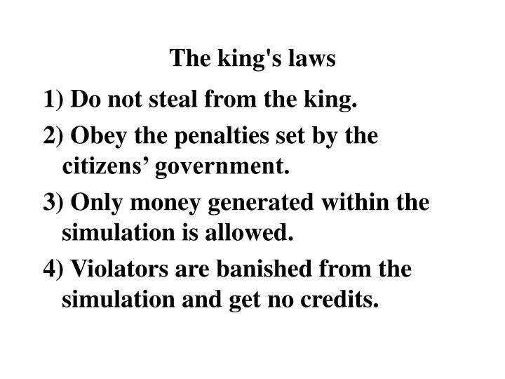 The king s laws