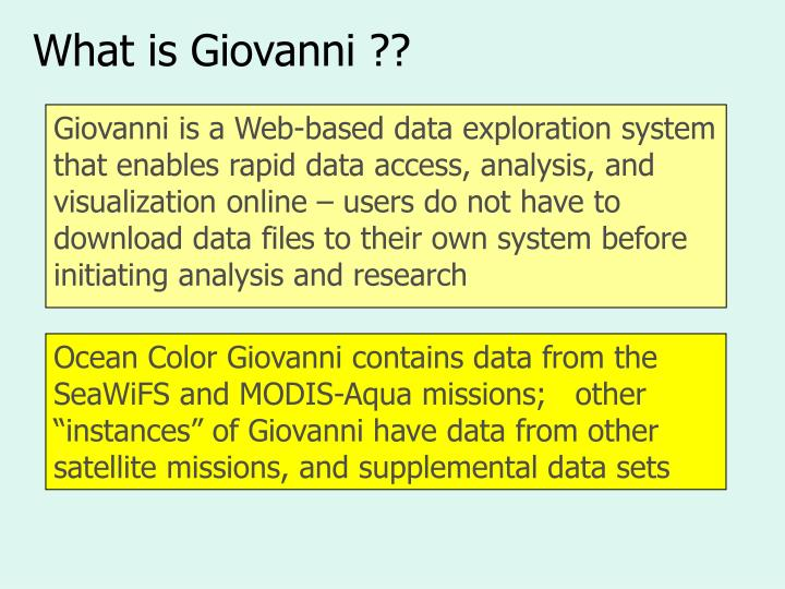 What is Giovanni ??