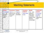 matching statements1