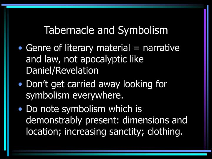 Tabernacle and Symbolism