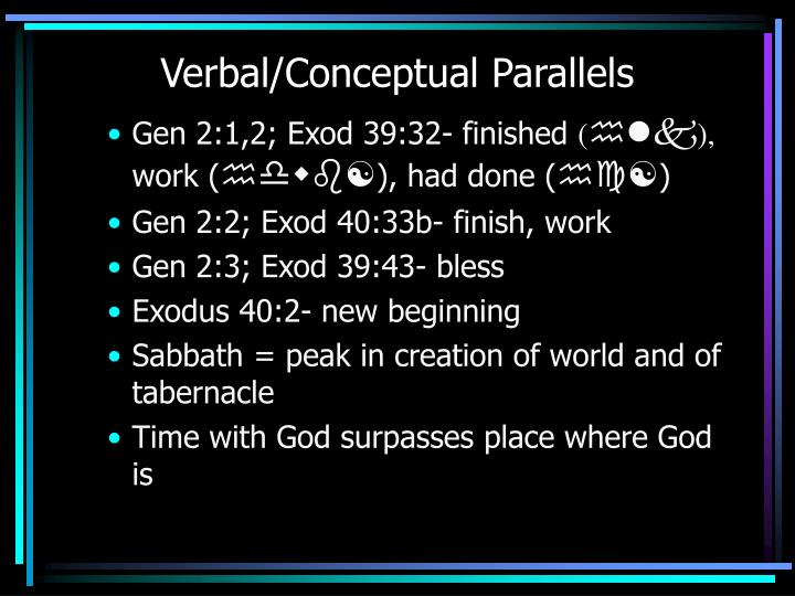Verbal/Conceptual Parallels