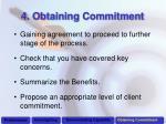 4 obtaining commitment