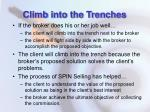 climb into the trenches