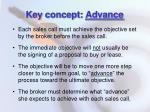 key concept advance