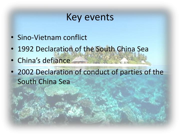 Key events